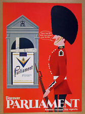1969 GREAT Queen's Guard sentry box art Parliament Cigarettes vintage print Ad