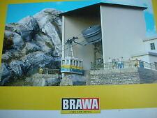 Brawa 6340 + 6341 Nebelhornbahn, Gebäudesatz Berg-Talstation,eingeschweisst, NEU