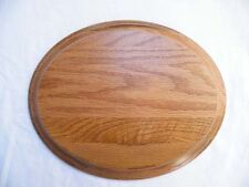 "*TAXIDERMY&MODELLING *   601 HARDWOOD OAK OVAL BASE    * 10"" X 12"" *"