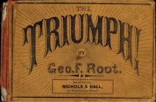 1868 The Triumph by Geo Root, Collection Church Music Hymns, Religion Christian