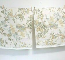 Pair Remnants 24x54 each Lee Jofa Tresillian Off White Fabric 100% Linen