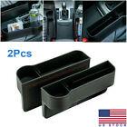Car Auto Seat Gap Catcher Storage PU Box Organizer Cup Crevice Pocket Stowing US