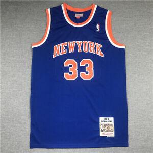 33# Patrick Ewing New York Knicks 1991-92 Classics Men's Swingman Jersey Blue