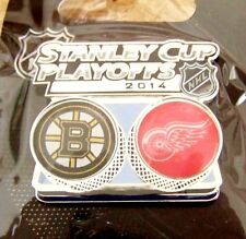 2014 Stanley Cup Playoffs lapel pin NHL SC Boston Bruins vs Detroit Red Wings