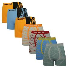 Pack 7 Mens Boxershorts Stretch Wicking Underwear Sale Gym Sports Pants Colour