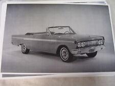 1964 MERCURY COMET CONVERTIBLE #2 11 X 17  PHOTO PICTURE