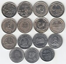 COMMEMORATIVE COINS REPUBLIC INDIA (LOT OF 15 - 1 RUPEE COINS FROM 1987 TO 2010)