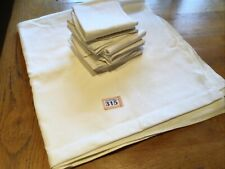 "Large Linen  Damask Tablecloth 69"" X 72"" And 8 Serviettes (20""square)"