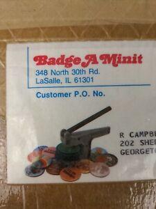 Badge A Minit Button Maker plus Manual Cut a Circle