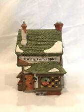 "Department 56 Dickens' Village ""T. Wells Fruit and Spice�"
