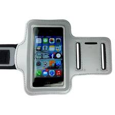 Silver Sports Armband Running Gym Exercise Case for Apple iPhone SE 5S 5C 5 4S