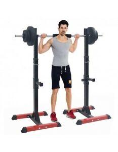 Musculation Fitness Cage à Squat support de barre Développé-couché Pectoraux