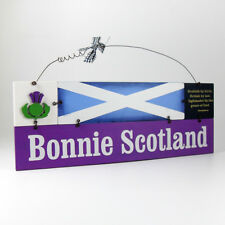 Bonnie Scotland - Decorative Wooden Scottish Wall Plaque / Sign / Gifts