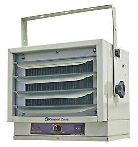 NEW Comfort Zone Heater Industrial 5000W 17000 BTU 208V Utility Garage Shed Shop