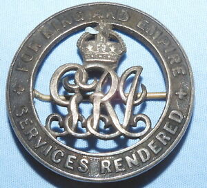 WW1 FOR KING & EMPIRE SERVICES RENDERED PIN WOUND BADGE 54499 WORLD WAR I