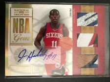 JRUE HOLIDAY 2009-10 National Treasures NBA Gear Prime Triple Patch RC Auto #/49