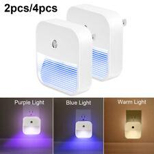 2x/4x Plug-in LED Night Light Lamp Dusk to Dawn Sensor Hallway Kitchen Stairs US
