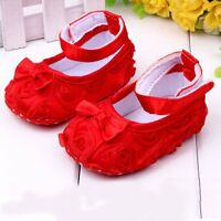 7 Colors Infant Baby Shoes Kids Girls' Soft Button Slip-On Shoes Size 4 5 6 B74