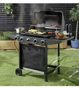 🔥 Home 4 Burner Gas BBQ With Side Burner | FREE & FAST DELIVERY 🚚