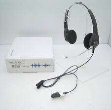 Plantronics H101 Encore Binaural Voice Tube Headset New in Bulk Package - no Box