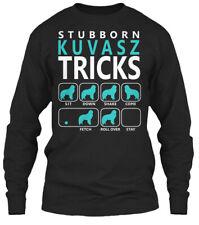 Quality Kuvasz Tricks Stubborn - Sit Down Shake Gildan Long Sleeve Tee T-Shirt