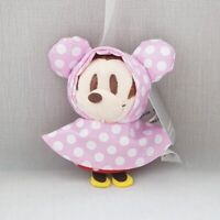 minnie raincoat stuffed plush doll key chain ornament keyring bag pendant new