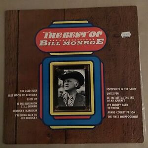 the best of bill monroe vinyl LP gold star series record