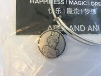 Disney Parks Cinderella Bangle Bracelet by Alex and Ani in Silver Finish NEW