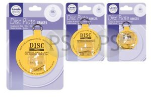 """Adhesive Disc Plate Hanger 2"""", 3"""", 4""""  With Brass Picture Hook"""