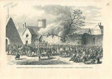 Explosion du Grand atelier de confection de cartouches Chassepot à GRAVURE 1868