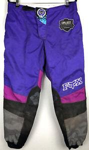 Vintage 1994 Fox Racing 360 Off Road Motocross Pants 40 Purple McGrath MX SX