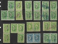 US Revenue #RD54 –1940 $1, #R244 –1917-33 $5 dl blue engraved, Rare Dated Pairs