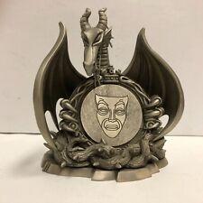 "1997 Disneyana "" Villains"" Convention Pewter Maleficent Dragon LE 2200"