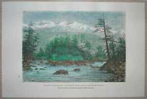 1881 Reclus print TRIBUTARY OF IRTYSH, SEMIPALATINSK PROVINCE, KAZAKHSTAN (#66)