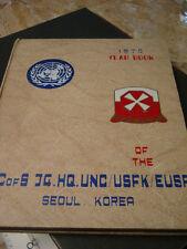 1970 Yongsan Seoul Korea U.S. Army AC of S J4 HQ UNC/USFK/EUSA Yearbook