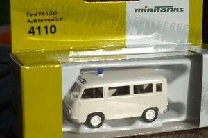 Roco Herpa 4110 Minitanks Ford FK 1000 Le Allemand Police De L'Autoroute Neuf De