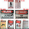 WARNING GUN SHOT Metal Tin Sign Rifle Pistol Hunting Cabin Bar Man Cave decor
