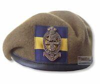 PWRR BERET PRINCESS of WALES'S ROYAL REGT & ALL RANKS CAP BADGE 52-62 cm ARMY