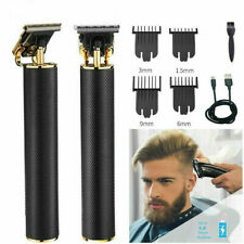 Electric Cordless Close Cutting T-Blade Trimmer Rechargeable Hair Clipper Kit UK