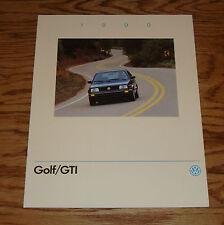 Original 1990 Volkswagen VW Golf & GTI Sales Brochure 90