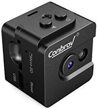 Mini Spy Cam Hidden Camera-Conbrov T16 720P Portable Small Nanny Cam with Night