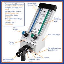 NEW Belmed Dental N2O O2 Flowmeter Head ONLY PC7 for Nitrous Oxide/Oxygen System