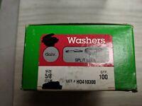 "100 Split Lock Washers 5/8"" Galvanized Steel"