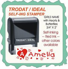Girl's Name, Trodat / Ideal Custom Return Address for Name Self-Ink Stamp