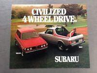 1978 Subaru 4wd Brat and Station Wagon Original Car Sales Brochure Folder