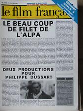 Le Film Français N°2150 (17 juil 1987) Alpa - Dussart - Résultats Paris