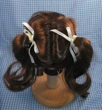 Vintage Global Dolls JANEY pigtails style wig Sz 13/14 Light Brown MODACRYLIC