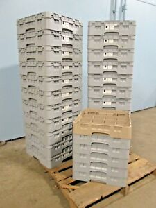 """LOT OF (28) """"CAMBRO"""" HD COMMERCIAL (NSF) ASSORTED GLASS & CUPS DISHWASHER RACKS"""