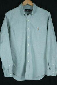 Ralph Lauren Mens sz Large Green Oxford Long Sleeve Button up Shirt