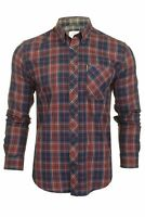 Ben Sherman Mens Tartan Shirt 'Grindle' Long Sleeved